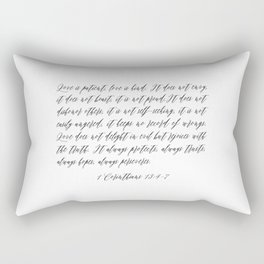 Love is Patient Rectangular Pillow