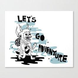 Lets Go Adventure Canvas Print