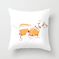 Chien Chaud Throw Pillow