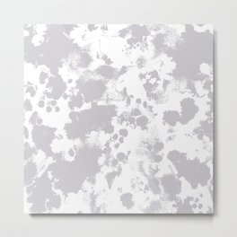 Grey - pattern painting gray and white minimal modern art large stretched canvas minimal decor Metal Print