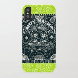 Muy Macho Neon iPhone Case
