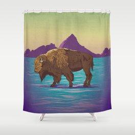 Buffalo Country Shower Curtain