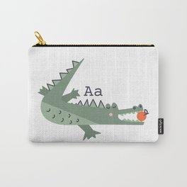 a is for alligator eating an apple Carry-All Pouch