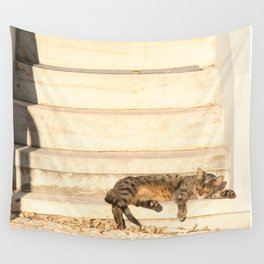 The sun shines on all cats equally Wall Tapestry