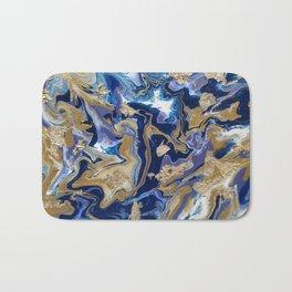 Blue and Gold Acrylic Bath Mat