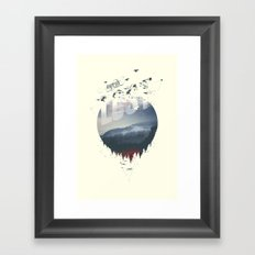 Happily lost Framed Art Print