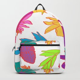 Tropical Ginger Plants in Pink + White Backpack