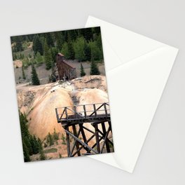 1880's Gold Rush - Mine Headshaft on Red Mountain from the Idarado Ore Cart Track Stationery Cards