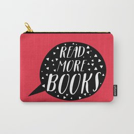 Read More Books (Speech Bubble Red) Carry-All Pouch
