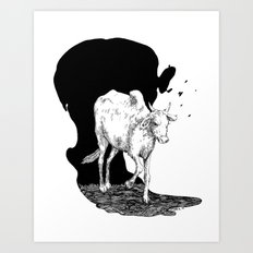 COW IS GOD Art Print