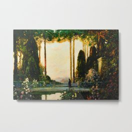 The Enchanted Garden by Thomas Mostyn Metal Print