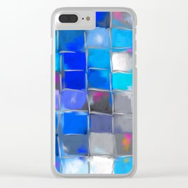 Mosaic / Abstract Art ' BLue SKieS ' BY SHiRLeY MacARTHuR Clear iPhone Case