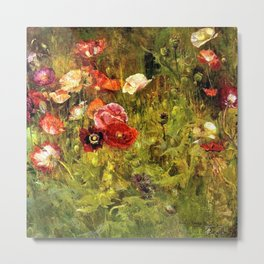 Multi-Color and Red Poppy Fields in Tuscany, Italy by Maria Oakey Dewing Metal Print