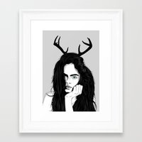 cara Framed Art Prints featuring Cara by Roland Banrevi
