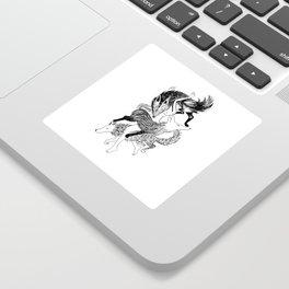 Femme Loup Tattoo Sticker