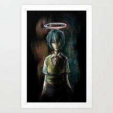 Ayanami Rei Evangelion Character Digital Painting Art Print