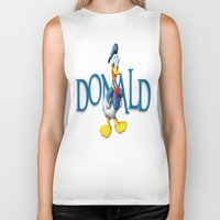 donald duck Biker Tanks featuring Donald Duck by Maxvision