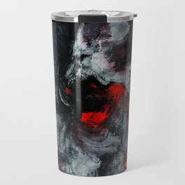 Red and Black Minimalist Abstract Painting Travel Mug