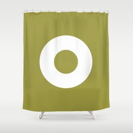 Circle (White Ring) Shower Curtain