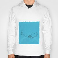 the whale Hoodies featuring Whale by David Penela
