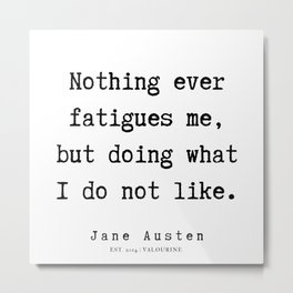 35   | Jane Austen Quotes | 190722 Metal Print