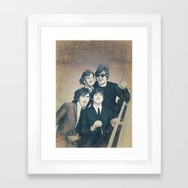 Beatle - John, Paul, George, and Ringo Framed Art Print
