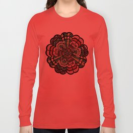 flowing floral Long Sleeve T-shirt