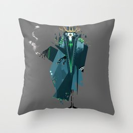 Smoking Beast Throw Pillow