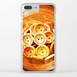 Handmade with Love Clear iPhone Case