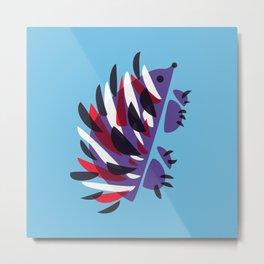 Colorful Abstract Hedgehog Metal Print