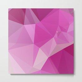 Fashion Fuchsia Pink Abstract Low Polygon Background Metal Print