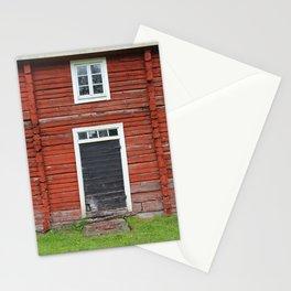 Old black cottage door Stationery Cards