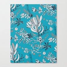 Cool Blue Cradle Flora Canvas Print