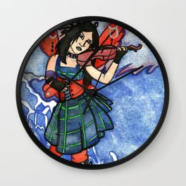 She Plays For The Waves Wall Clock