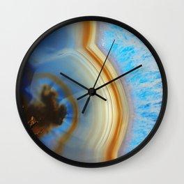 Iced Agate Wall Clock