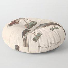 Rufous tailed Scrub Robin Moltoni's Warbler5 Floor Pillow