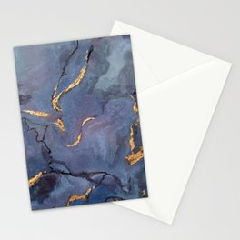 Mojave Purple Turquoise - an original encaustic painting Stationery Cards