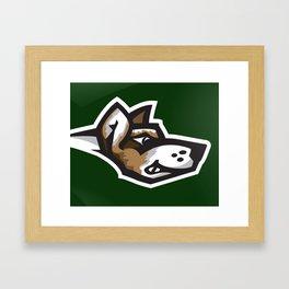 Fighting Corgis Logo Framed Art Print