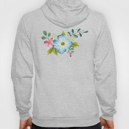 Bouquet Viola - Violet, Green AND Blue Flower Pimpernel Hoody