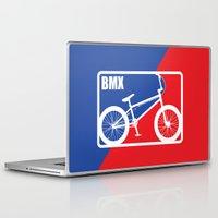 nba Laptop & iPad Skins featuring BMX by Wyatt Design