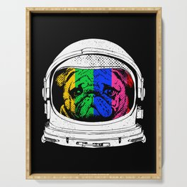 Astronaut Pug Serving Tray