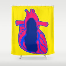 Vacant Heart Shower Curtain