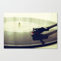 record Canvas Prints featuring Record player by josemanuelerre