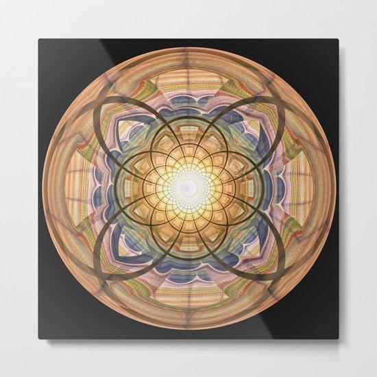 Groovy mandala with wild patterns Metal Print