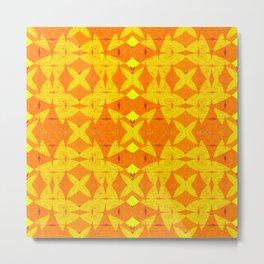 Vibrant African Geometric Fabric Print Metal Print