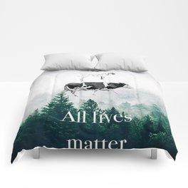 All lives matter go vegan Comforters