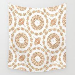 Citrine Mandala Tile Wall Tapestry