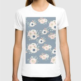 Dog Rose Pattern 3 T-shirt