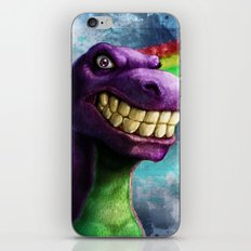 Barney the dinosaur iPhone & iPod Skin