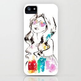 Heart shades and rainbow colors iPhone Case